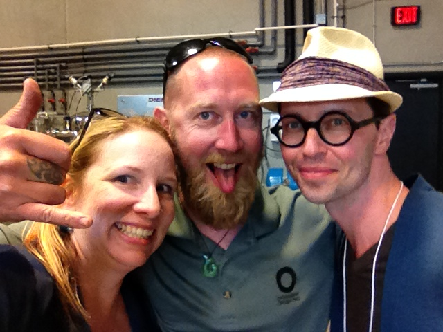 #selfie time with Okanagan Crush Pad winemaker Matt Dumayne and Brad Royale, wine director for Rocky Mountain resorts, and Wine Align judge