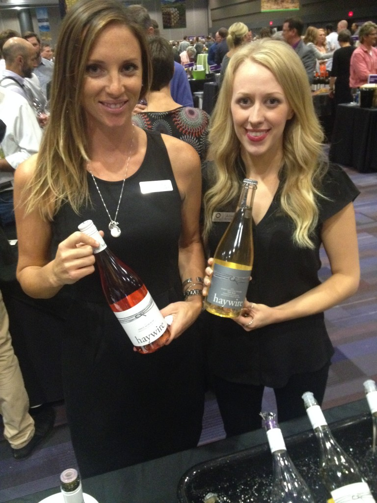 Amy Hollenbach and Alison Scholefield offer tastes of Haywire wines
