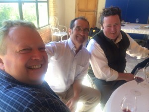 The ForgeCellars Team, LR: Justin Boyette Louis Barruol Rick Rainey Courtesy of Forge Cellars