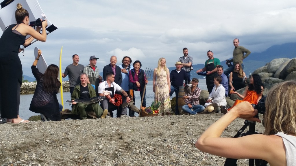 The amazing producers and Jennifer on Jericho Beach.