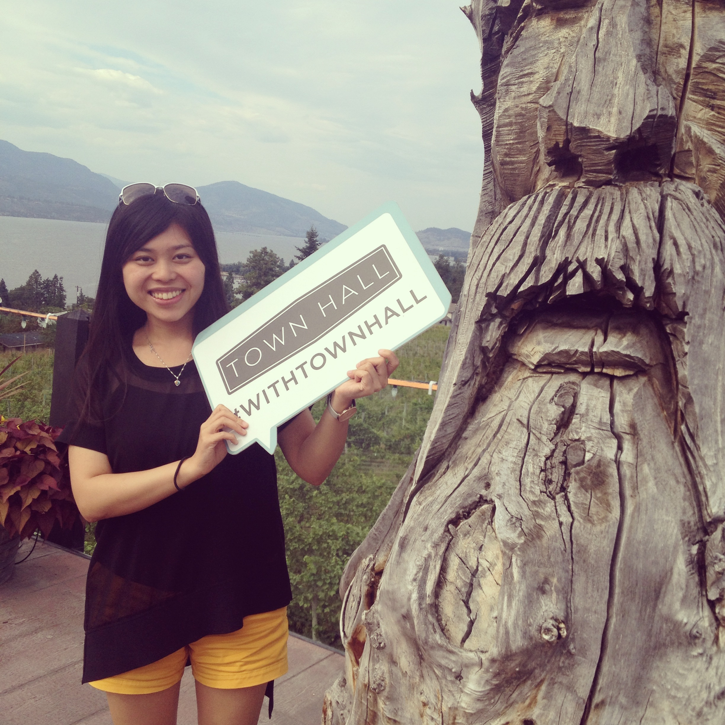 Amy Chen #withTownHall at Summerhill Pyramid Winery in Kelowna, BC