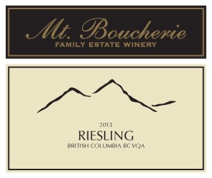 Mt Boucherie 2013 Riesling