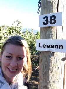 Christine Campbell, Girls Go Grape, looks great in her #row38selfie
