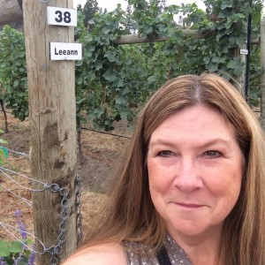 Big hello for Marilyn working the vineyard angles at row 38.