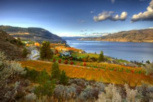 The view from Okanagan Crush Pad.