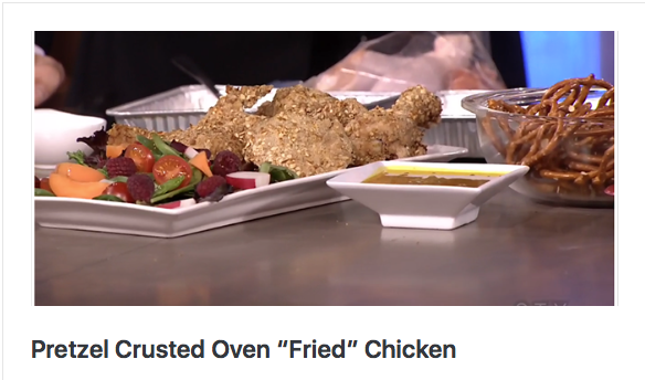 "Pretzel Crusted Oven ""Fried"" Chicken"
