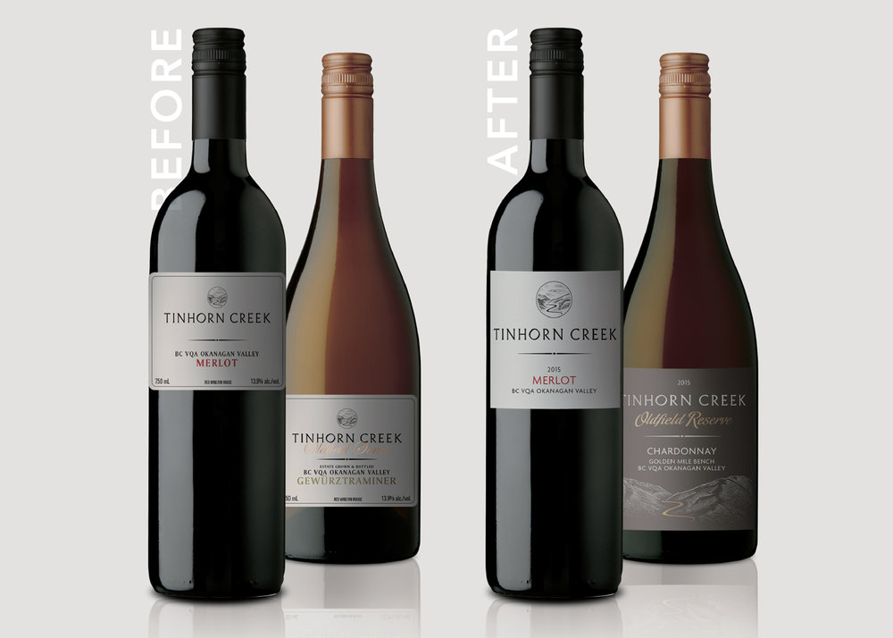 Tinhorn Creek Packaging Refresh Before and After