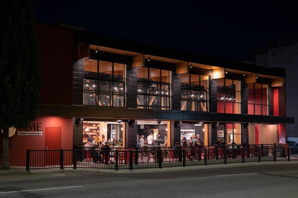 Penticton's TIME Winery & Kitchen; Chris Stenberg Photo