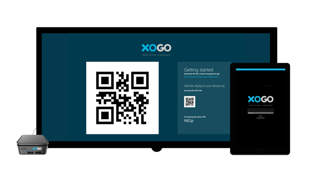 Figure 1: Initial screen of XOGO Decision Signage App