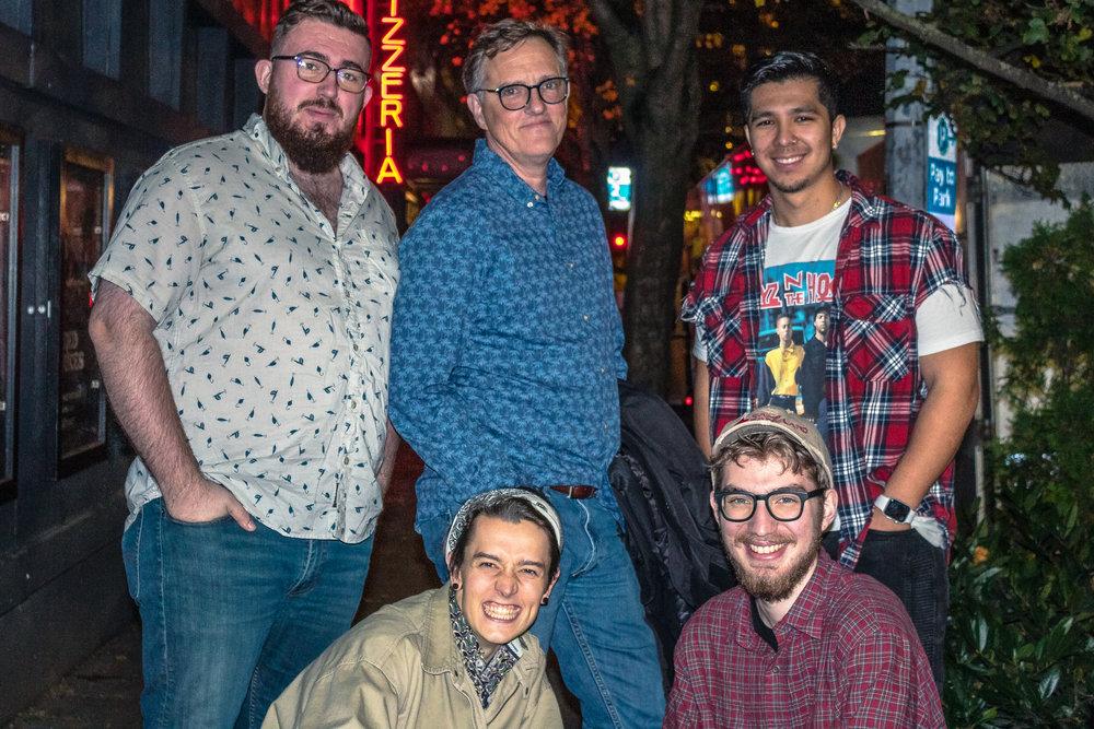 Members from left to right: Sean Murphy (Bass), Joel Bozich (Drums), BrandonLee Cierley (Saxophone), Ian Crocker (Guitar), Joshua Vancleave (Keyboard)   Photographer: Abu Hassen