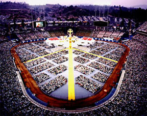 MASS AT DODGER STADIUM