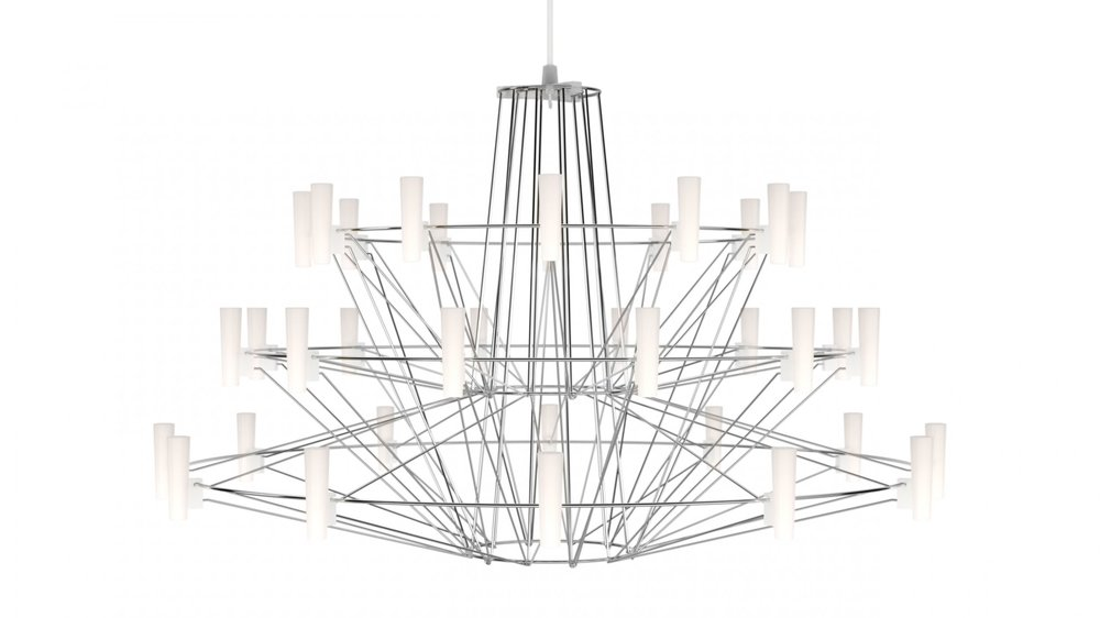The exclusive  Mooi Cappella  Chandelier welcomes you. Our showroom is known for its compelling designs and interesting lighting