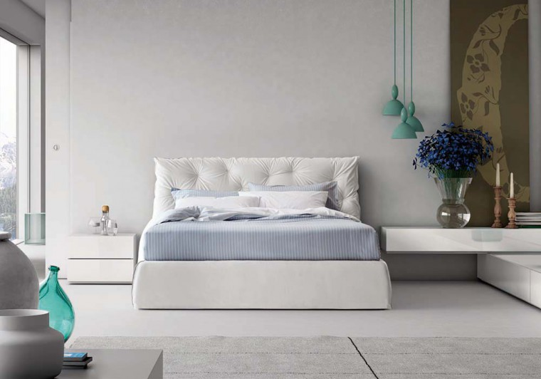 The love bed: our favorite PIANCA bed set with the AMAZING FOSCARINI lighting.