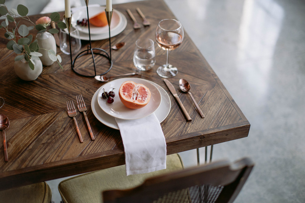 Rosewood co Wedding style, custom table