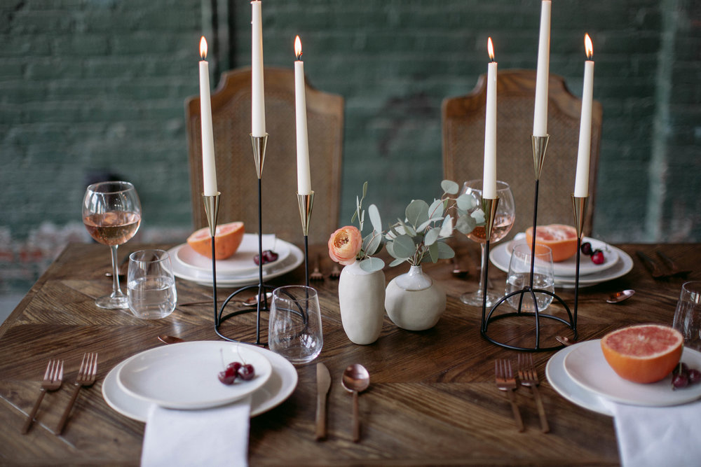 Rosewood co custom dining table, Wedding Styled