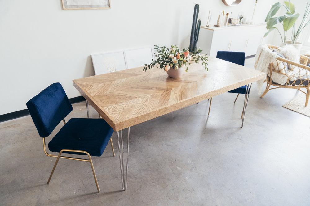 Rosewood co Herringbone Dining Table