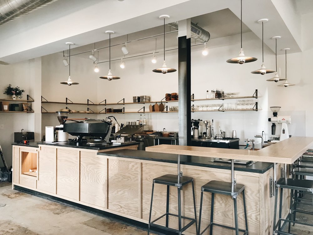 Rosewood co Mill Work Installment at Basal Coffee