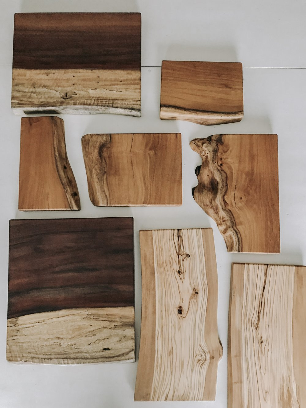 Live Edge Serving Boards -