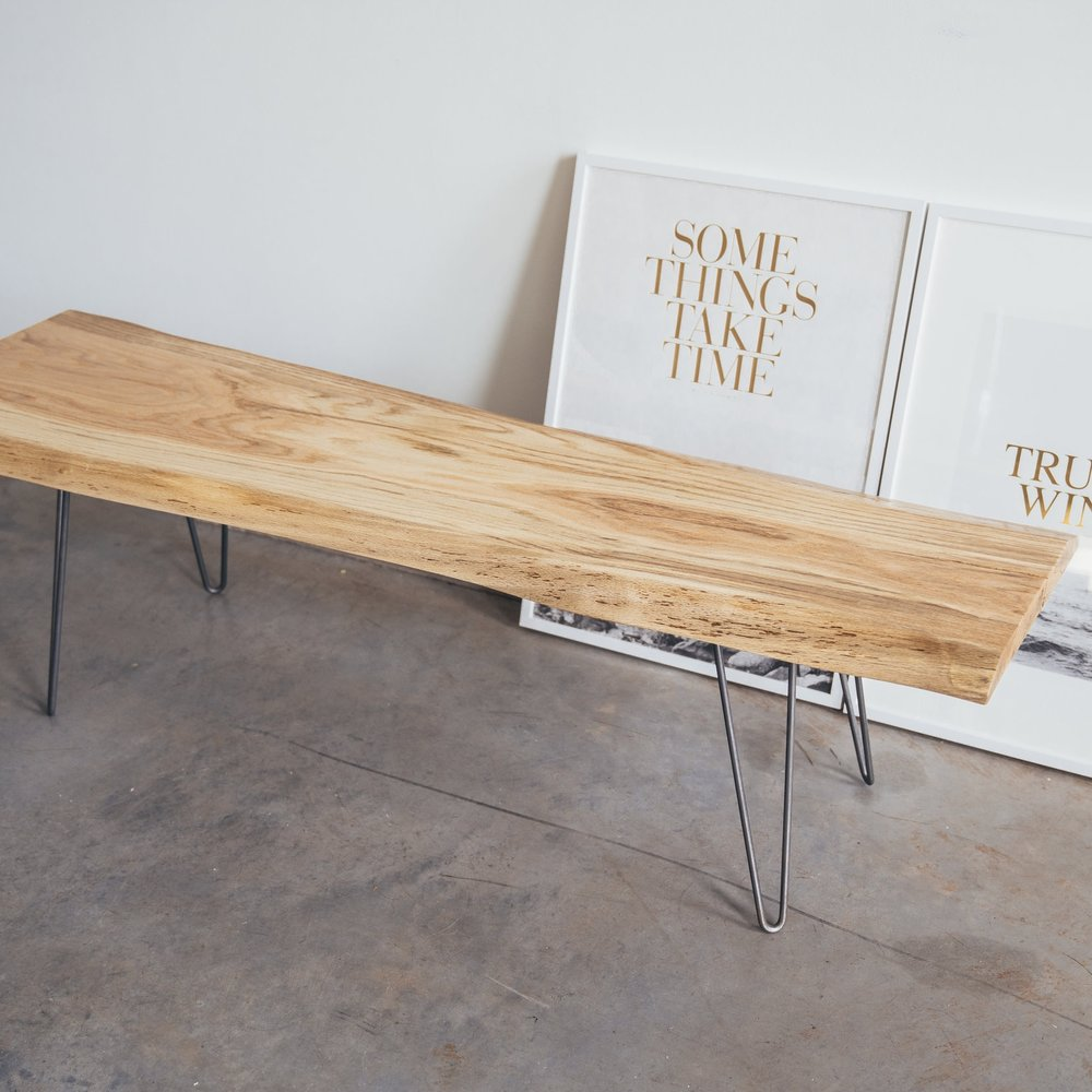 Species: Oak    Live edge coffee table or bench