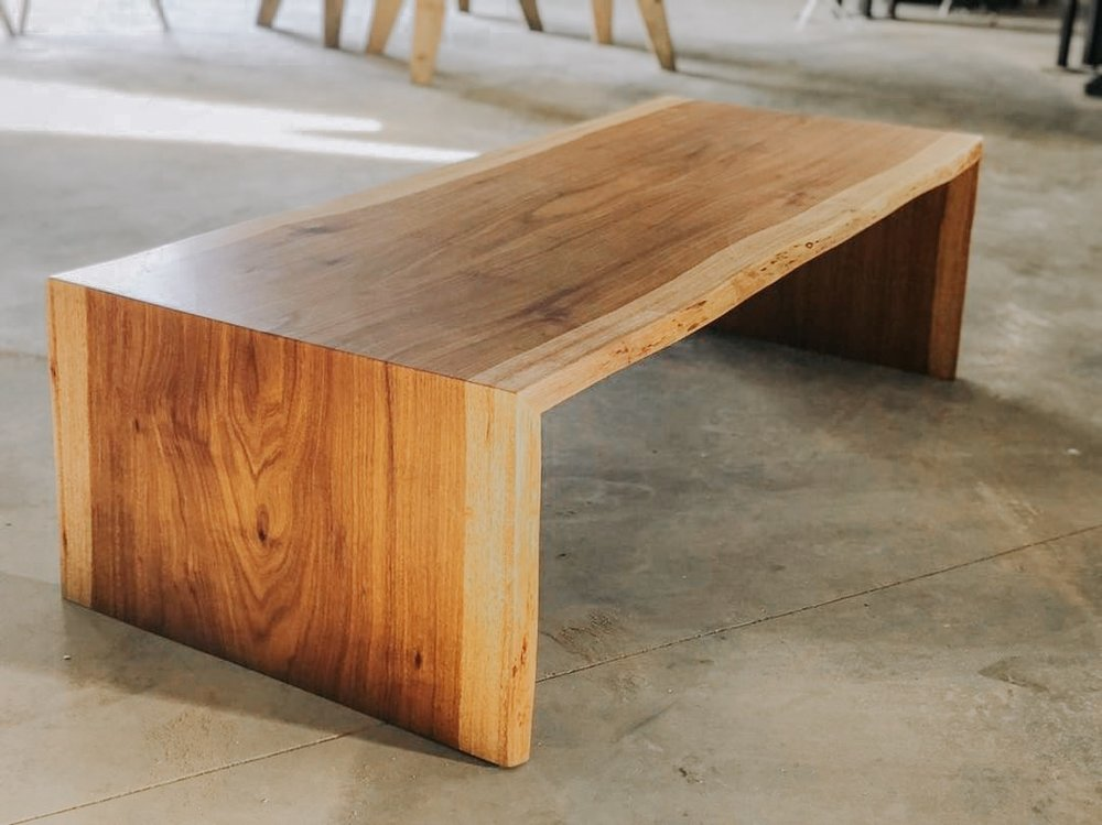 Species: Ardillo    Waterfall coffee table or bench