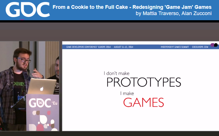 FROM A COOKIE TO THE FULL CAKE   - GDC EU 2014.   A talk about the design strategy taken to expand FRU, the original game jam prototype, into FRU, the Xbox One release of 2017. Featuring a beard that was definitively a bad idea and free cookies at the end!VIDEO