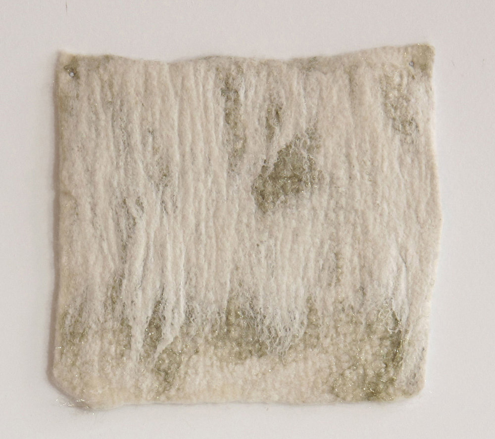 Untitled  Handfelted wool, silk, synthetic fibers  2013