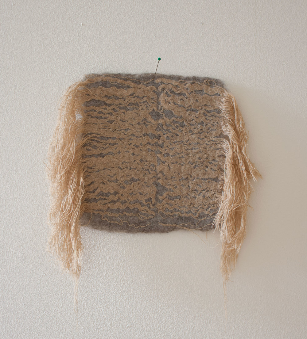Untitled  Hand-felted wool, dyed wool yarn  2015
