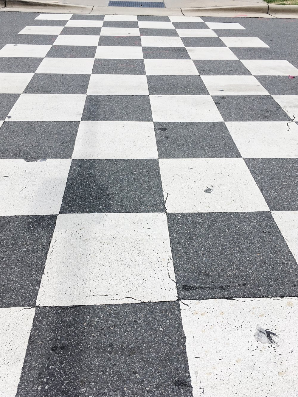 crosswalk to nascar hall of fame