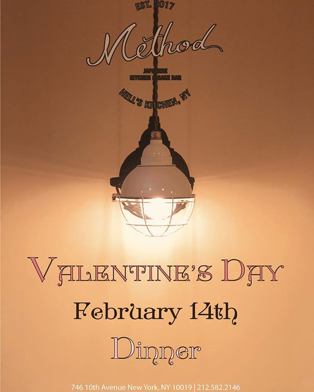 Have you made your Valentine's Day reservations yet? Join us this February 14th for a special dinner with your loved ones! #valentinesday2019#valentinesdaydinner #methodnyc #hellskitchen #nyc #japanese #japanesefood #japaneserestaurant #izakaya #sakebar #kanpai #food #foodie #foodstagram #instafood #foodiegram #newforkcity #buzzfeast #photography #photooftheday