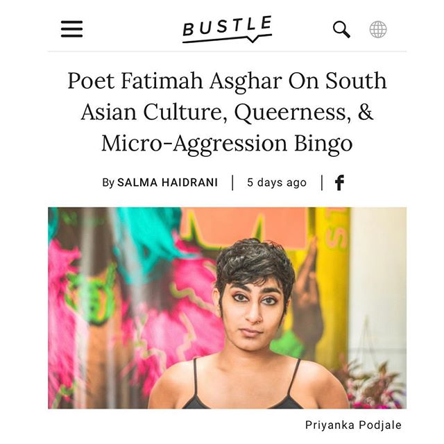 """A chat with Poet/Screenwriter Fatimah Asghar (@asgharthegrouch ) in @bustle ~~ """"We can create solidarity through difference. In the spirit of [the book's title] If They Come For Us, it's as much as a pledge as a warning."""" . . Link in bio ~~ . . #coakleypr #femaleempowerment #bossbabe #southasian #poetry"""