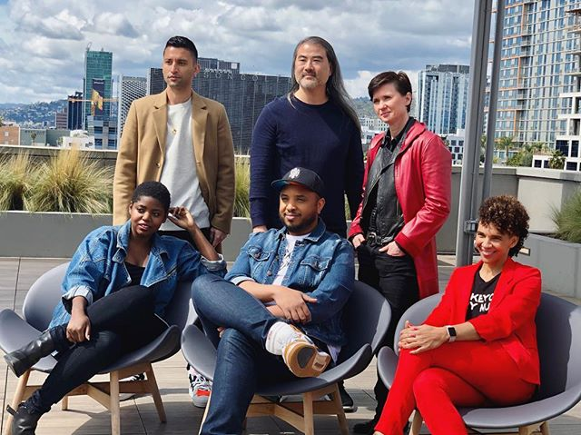 BTS of filmmaker Sam Bailey (@samb.chi) at the @dearwhitepeople round table with some of the other amazing Season 3 directors!! 🎬🎬🎬 . . #dearwhitepeople #netflix #film #tvseries #diversityinhollywood