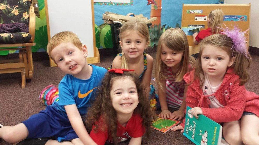 3 year olds enjoying christian preschool