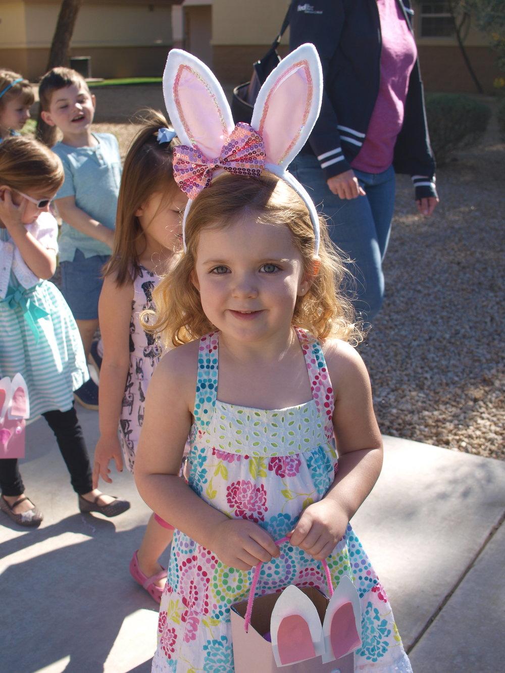 La Casa Preschool Student Easter Hunt