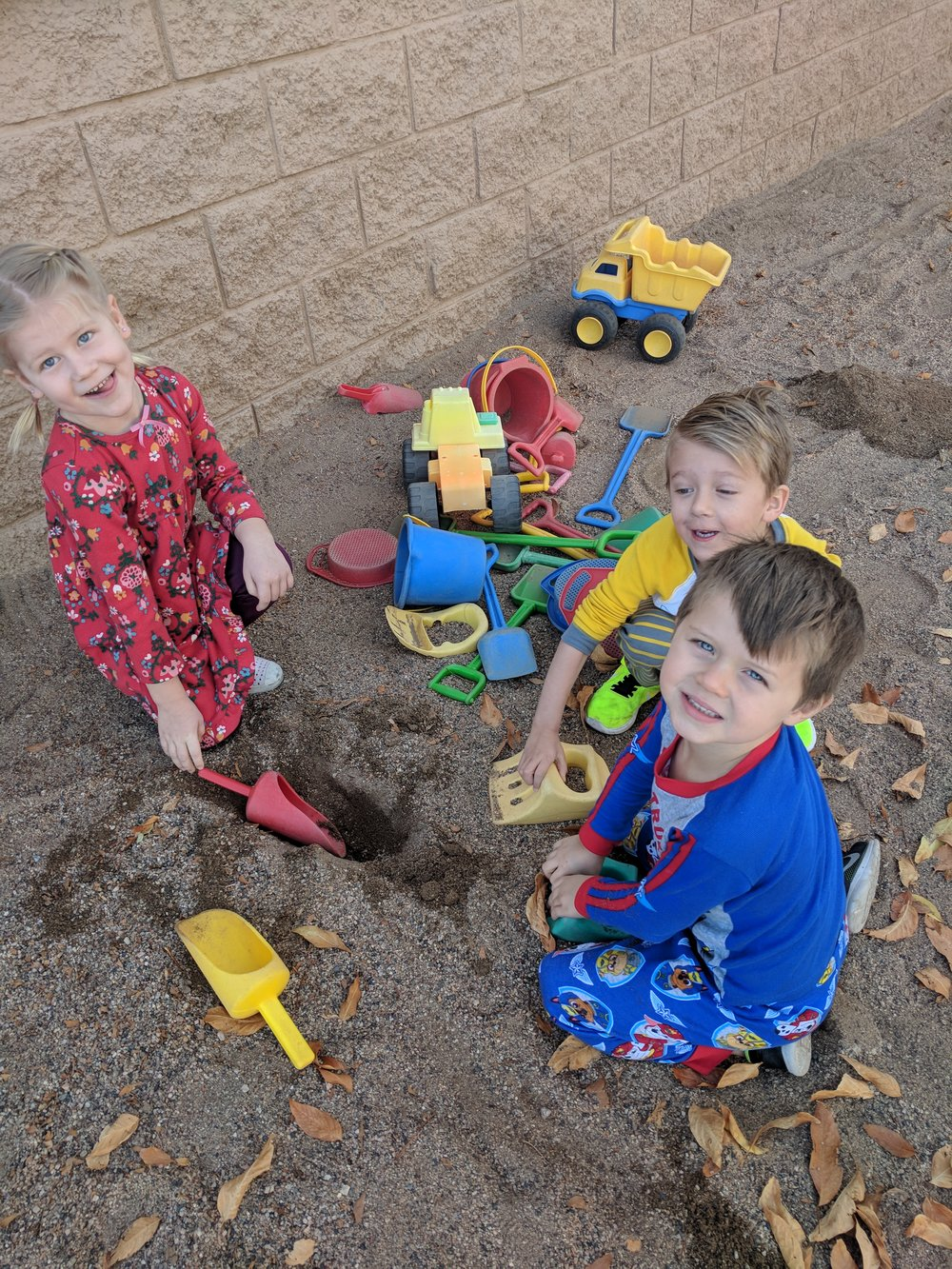 Sandbox Play at Preschool
