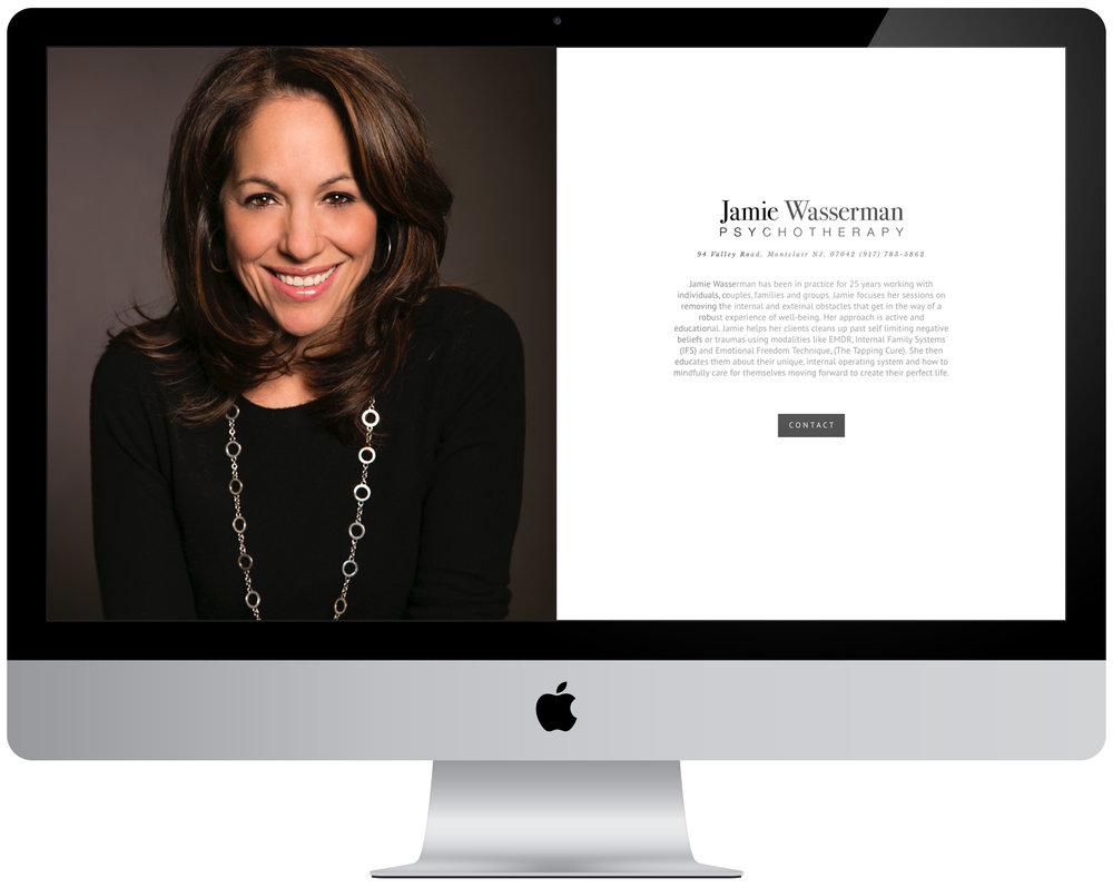 Jamie Wasserman - Logo design, one page website creation.