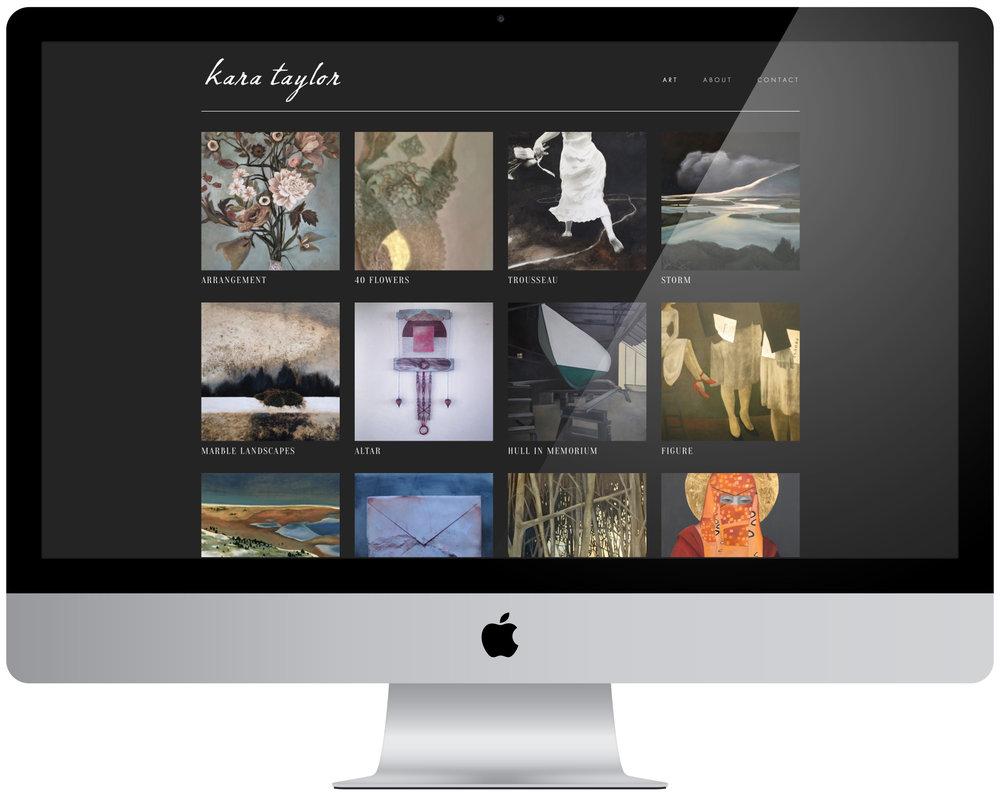 Kara Taylor - Logo design, portfolio management and organization,35 page website creation.