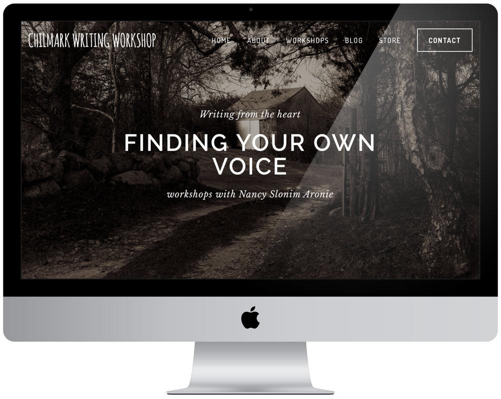 Nancy Aronie - Logo design, portfolio management and organization, eight page website creation.