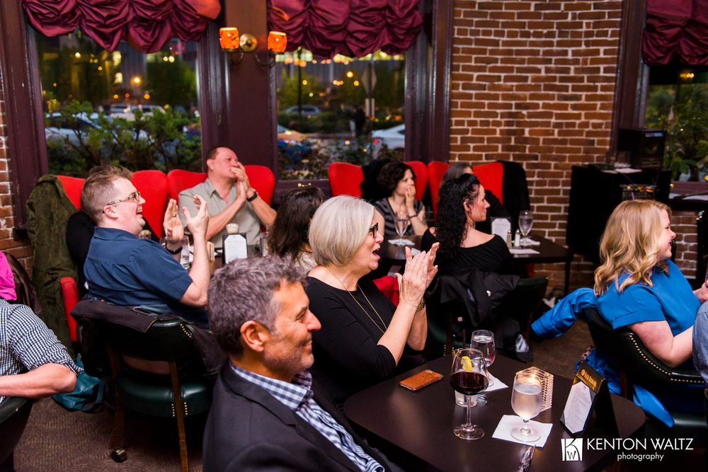 Event photography shot to help promote a music concert series  CLIENT: Cabaret White