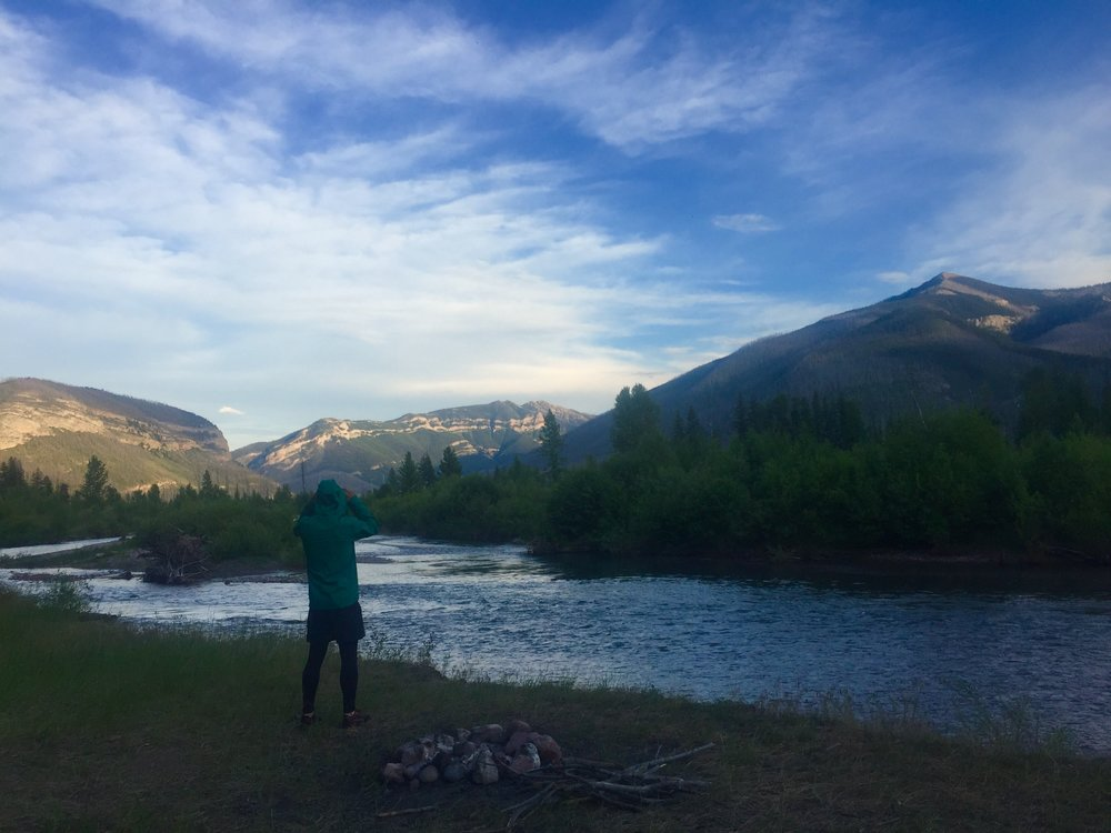 A strange combination of hyper-awareness and solitude found only when you're 30 miles from the nearest trailhead. Campsite location: Montana, USA