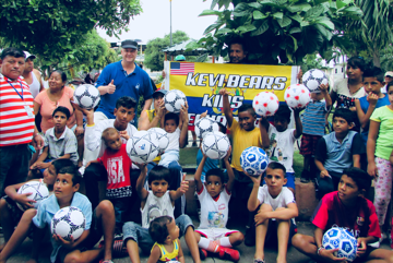 Kevi Bears Kids - Asheville based nonprofit organization donating soccer balls to kids in need in South America.