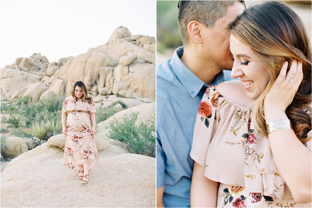 Fine Art Maternity | Joshua Tree Maternity Session | Maternity Inspiration | Joshu Tree Photographer | Fuji 400h | Pentax 645Nii | Richard Photo Lab | Alexis Ralston Photography5.jpg