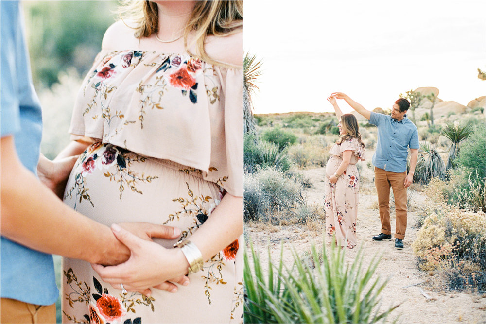 Fine Art Maternity | Joshua Tree Maternity Session | Maternity Inspiration | Joshu Tree Photographer | Fuji 400h | Pentax 645Nii | Richard Photo Lab | Alexis Ralston Photography8.jpg