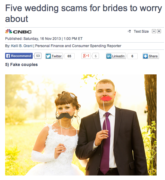 Five Wedding Planning Scams