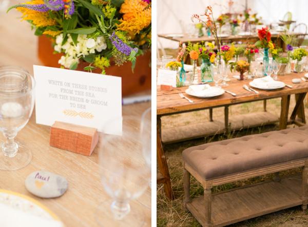 vintage bench wedding