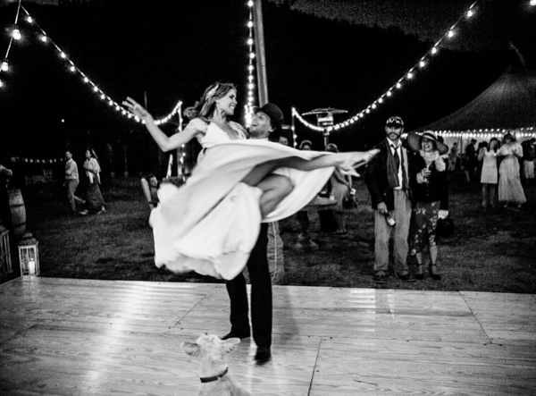 black and white wedding dance