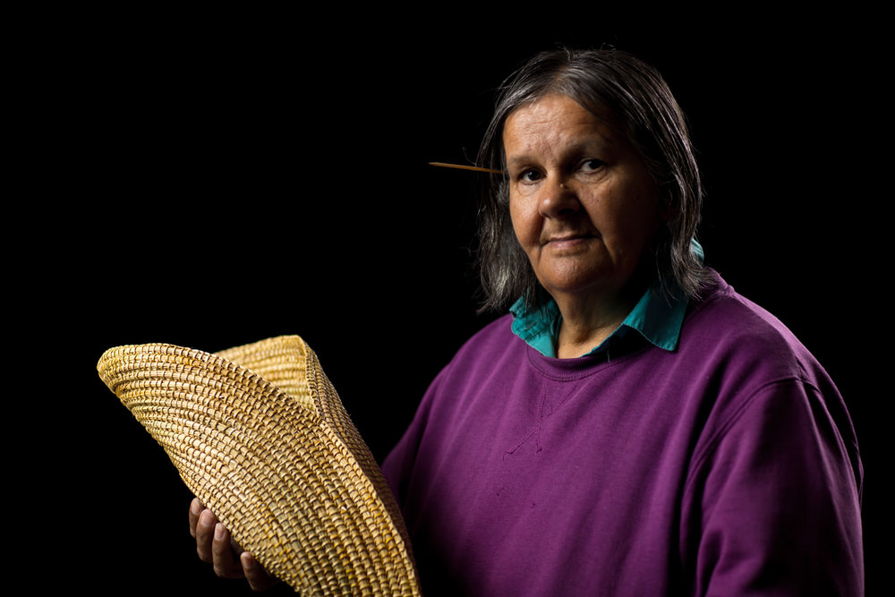 Ellen Trevorrow with her Fish Trap