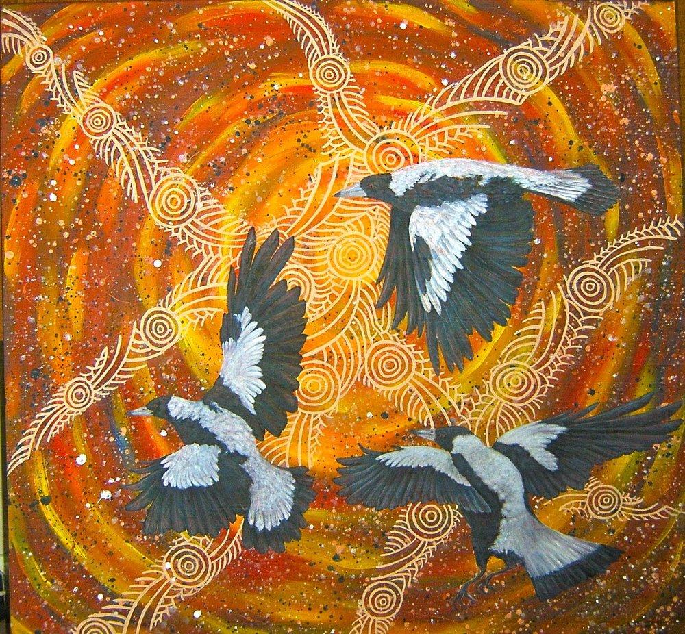Magpie Flight - Malhuri Ngantun