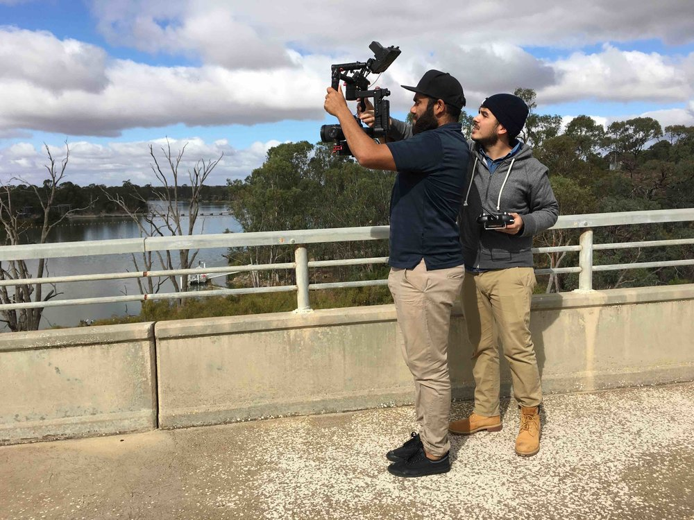 Owen Love Jnr uses a gimbal rig at Blanchetown. Photo Jen Lyons-Reid 2016