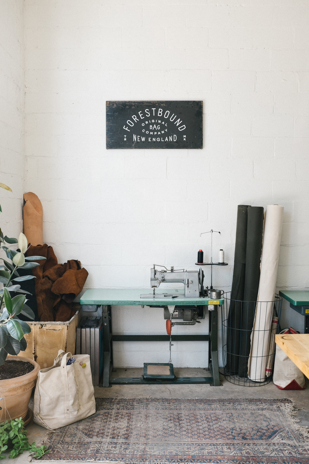 A charming, industrial work space.
