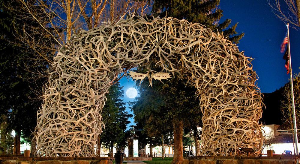 Jackson Hole's Antler Arch